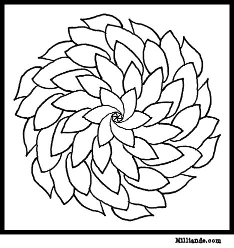 468x495 Flower Mandala Coloring Pages