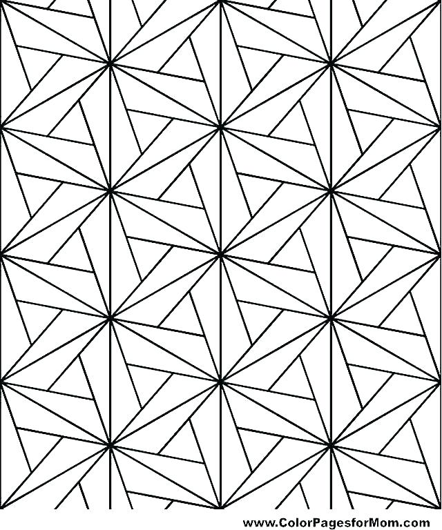 640x768 Geometric Shapes Coloring Pages Geometric Shape Coloring Pages