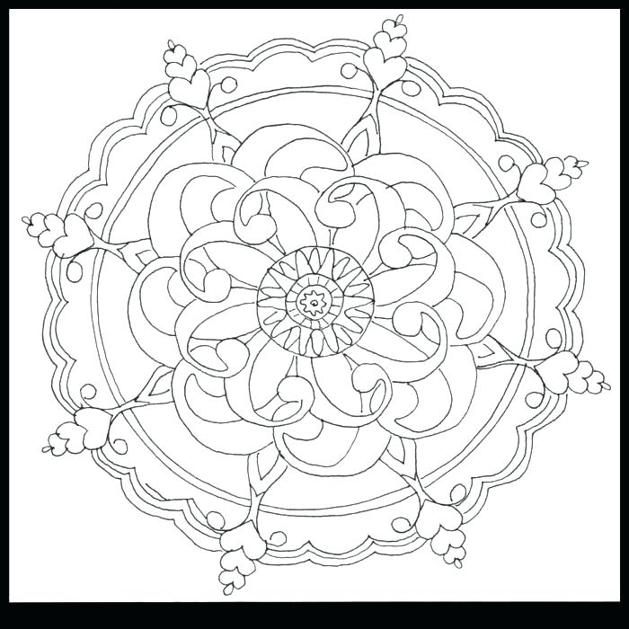 700x700 Simple Flower Coloring Pages Flower Pattern Coloring Pages