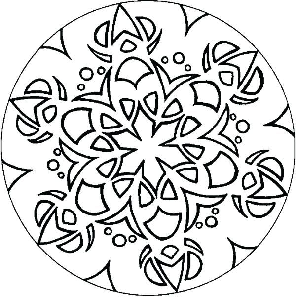 600x603 Geometric Pattern Coloring Pages For Adults