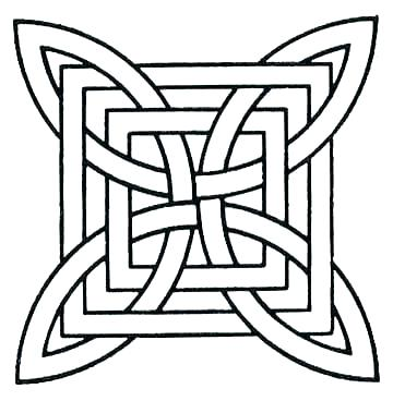 360x368 Geometric Pattern Coloring Pages