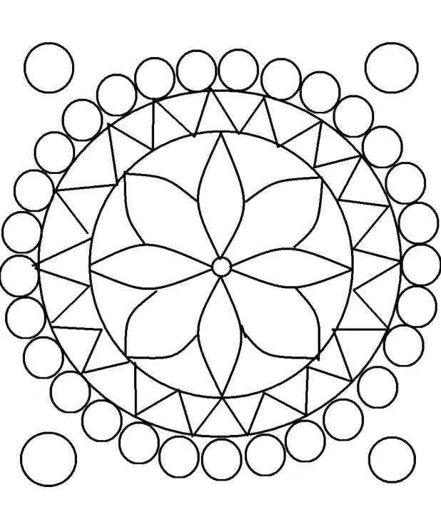 618x718 Incredible Amazing Geometric Patterns Coloring Pages Image