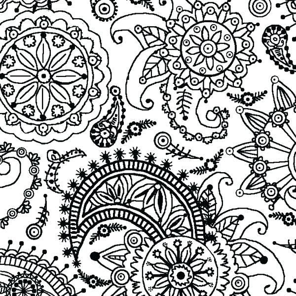 600x600 Printable Pattern Coloring Pages