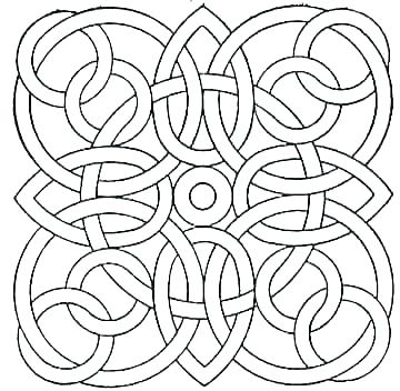 360x352 Celtic Knot Coloring Pages Mandala Coloring Pages Easy Mandala