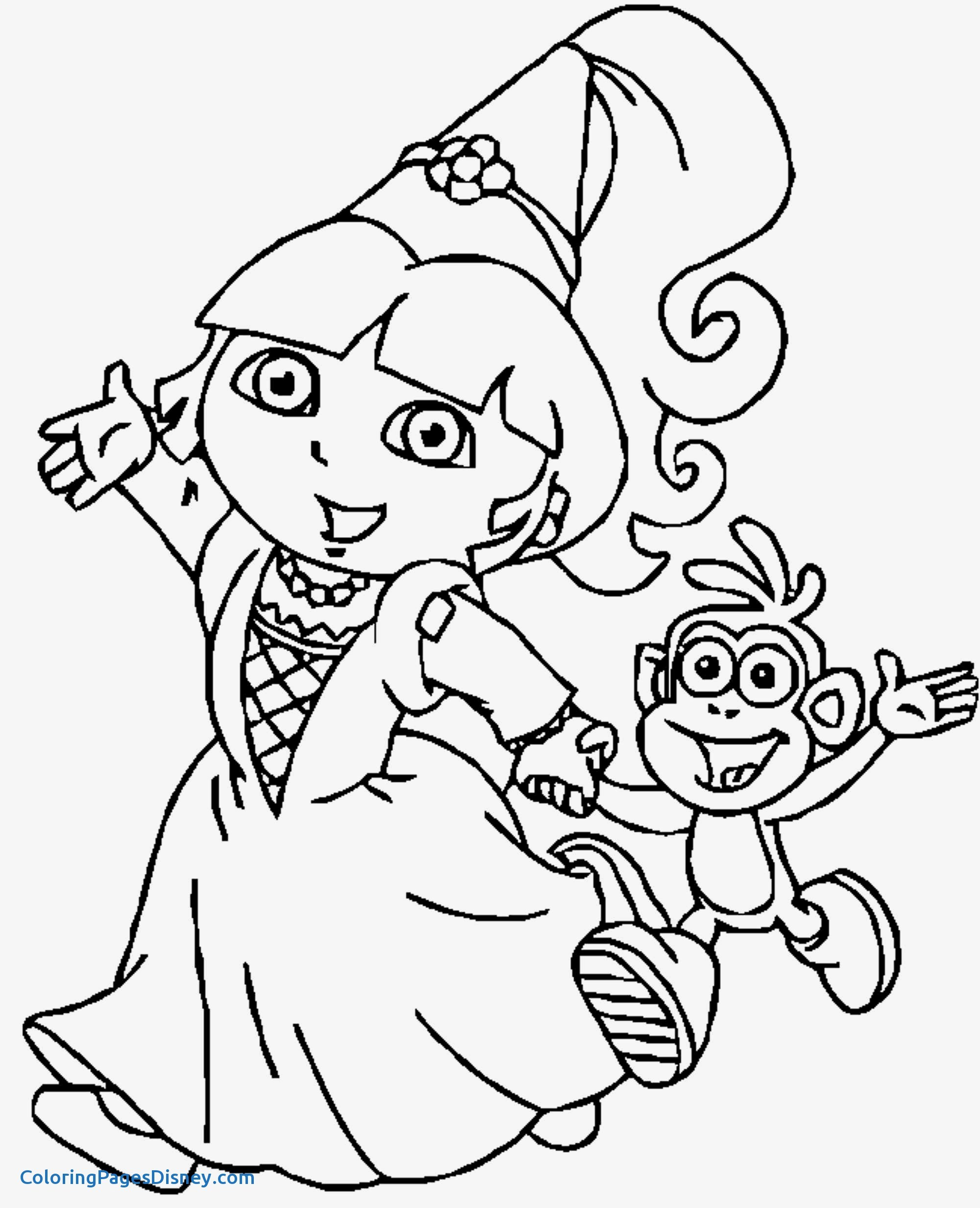 2000x2465 Dora The Explorer Coloring Pages Awesome Simple Dora Princess