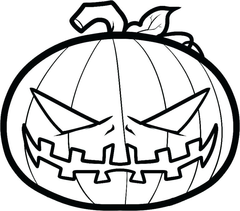 768x674 Jackolantern Coloring Page Coloring Page Pumpkins Coloring Pages
