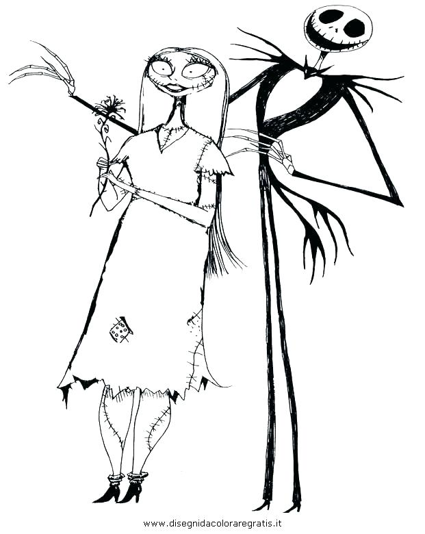 621x780 New Jack Skellington Coloring Page For Pages Simple Online