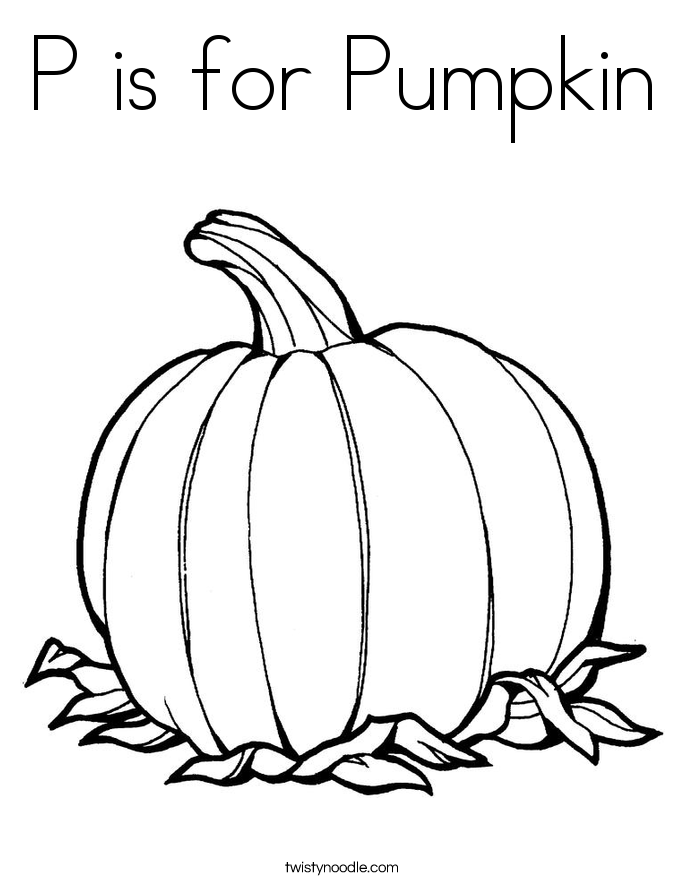 685x886 P Is For Pumpkin Coloring Page