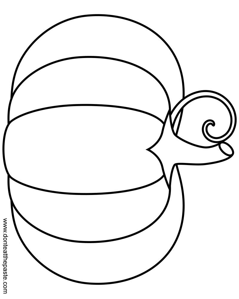 800x1000 Pumpkin To Color Etsy, Template And Craft