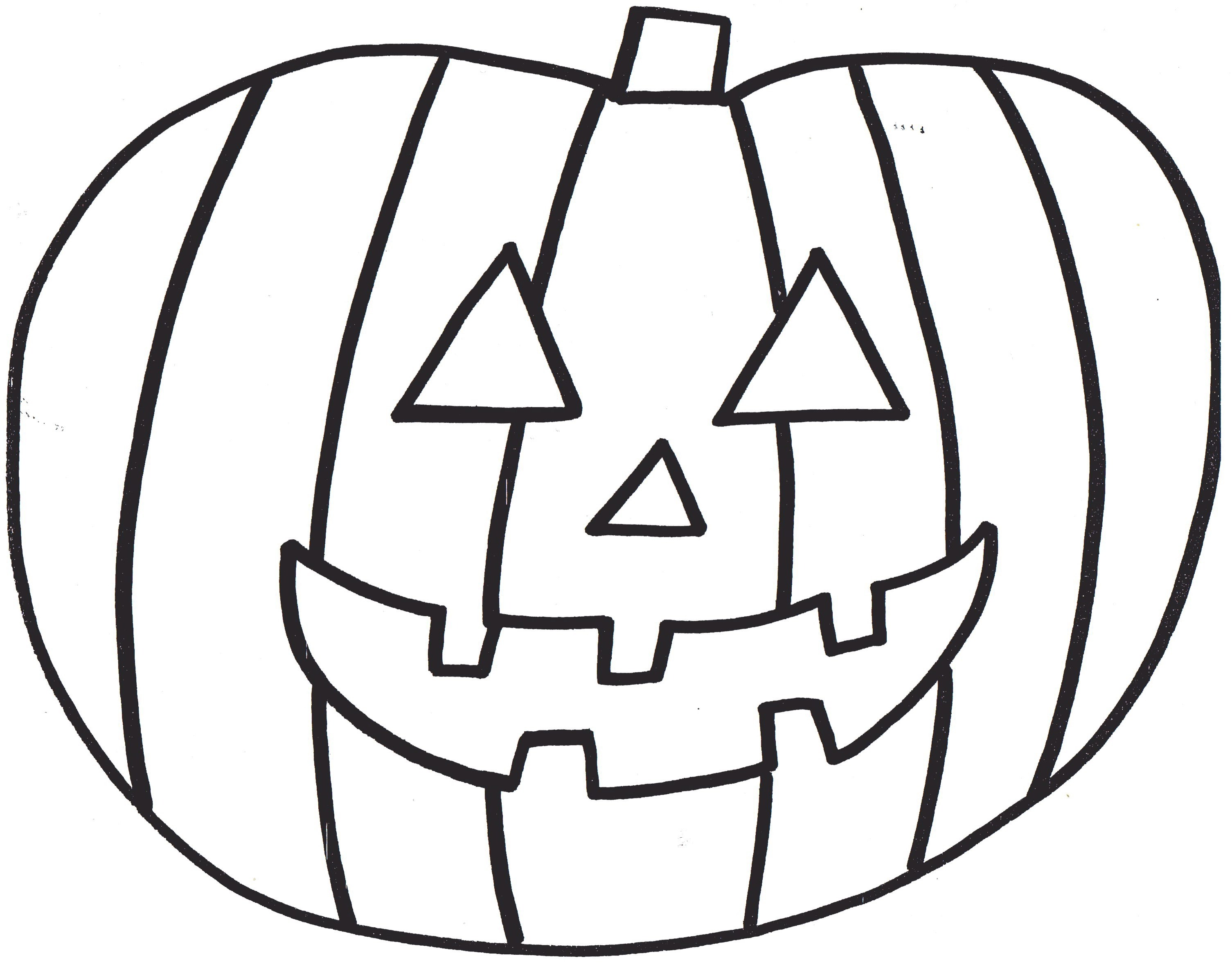 3011x2363 Scary Halloween Pumpkin Coloring Pages For Kids