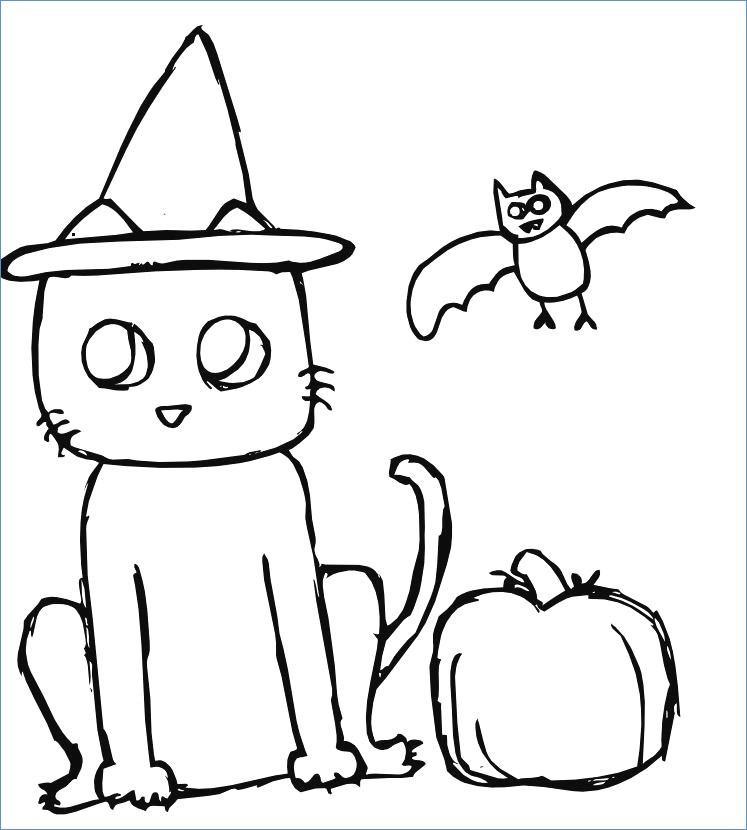 747x830 Spider Pumpkin Simple Halloween Coloring Pages