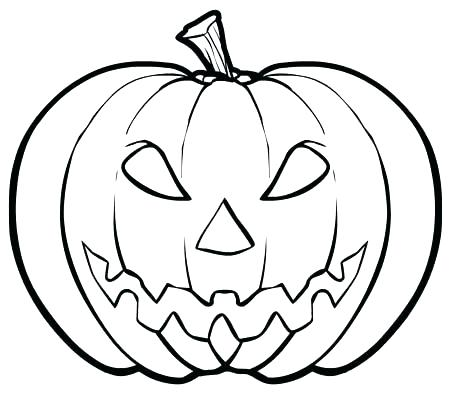 450x404 Simple Halloween Coloring Pages