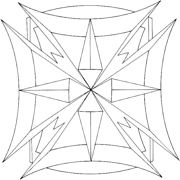 630x633 Geometric Shapes Coloring Pages Geometric Coloring Pages Geometric