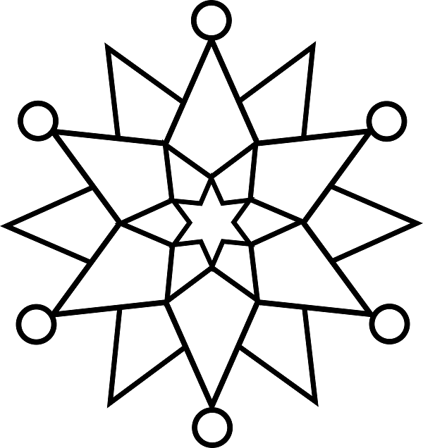 Simple Snowflake Coloring Pages at GetDrawings.com | Free ...