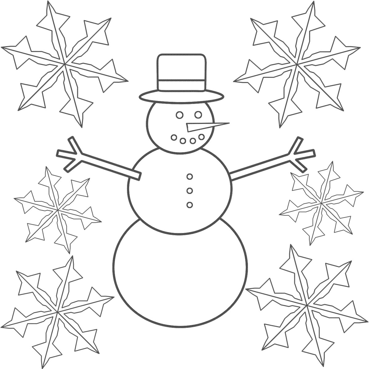Simple Snowflake Coloring Pages At Getdrawings Com Free For