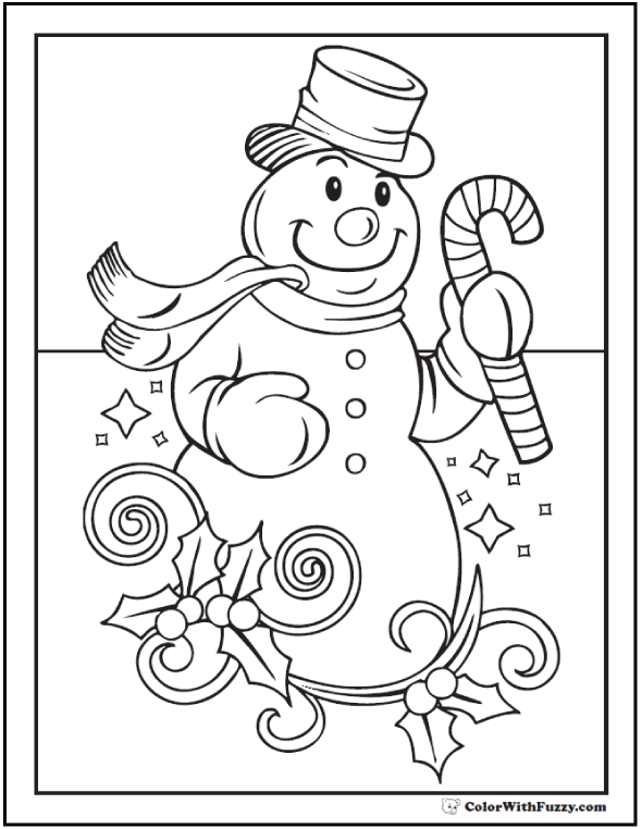 Simple Snowman Coloring Pages At Getdrawings Com Free For Personal