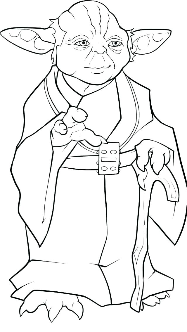 640x1136 Yoda Coloring Page Coloring Pages Coloring Pages Simple Coloring