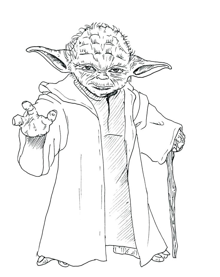 736x928 Yoda Coloring Page Coloring Star Wars Coloring Pages Download