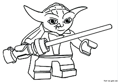 484x338 Yoda Coloring Pages Print Out Star Wars Coloring Pages Simple Yoda