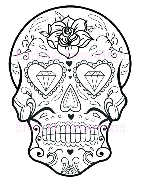 500x647 Skull Coloring Page Flaming Skull Coloring Pages Cool Skull Design
