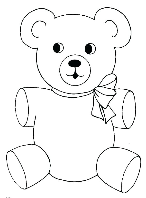 600x811 Coloring For All Teddy Bear Coloring Page Simple Beautiful Teddy