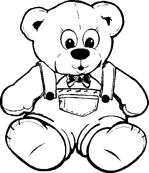 490x567 Teddy Bear Coloring Pages Simple Teddy Bear Coloring Page