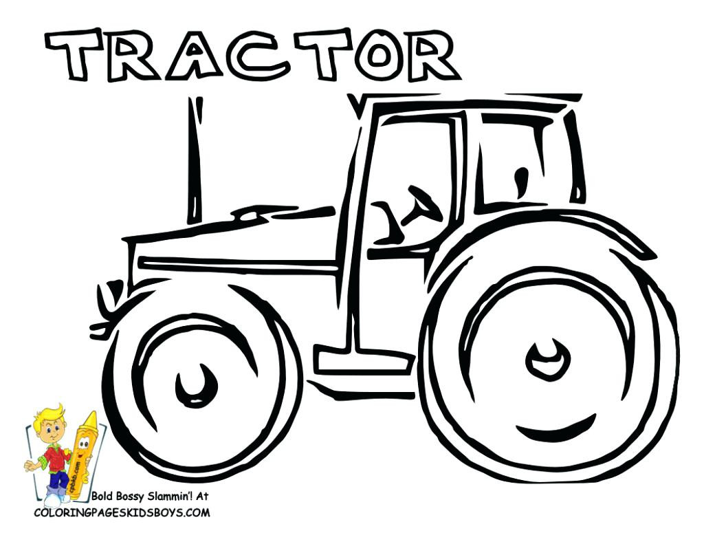 1024x791 Simple Tractor Coloring Page Free Printable Pages And Acpra