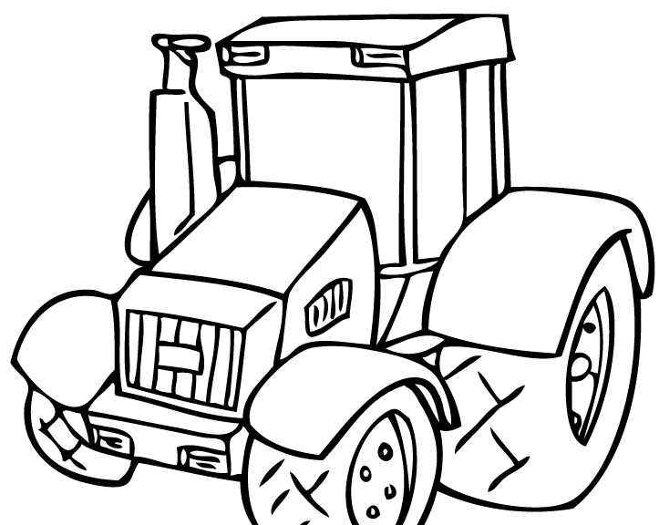 723x576 Tractor Coloring Pages