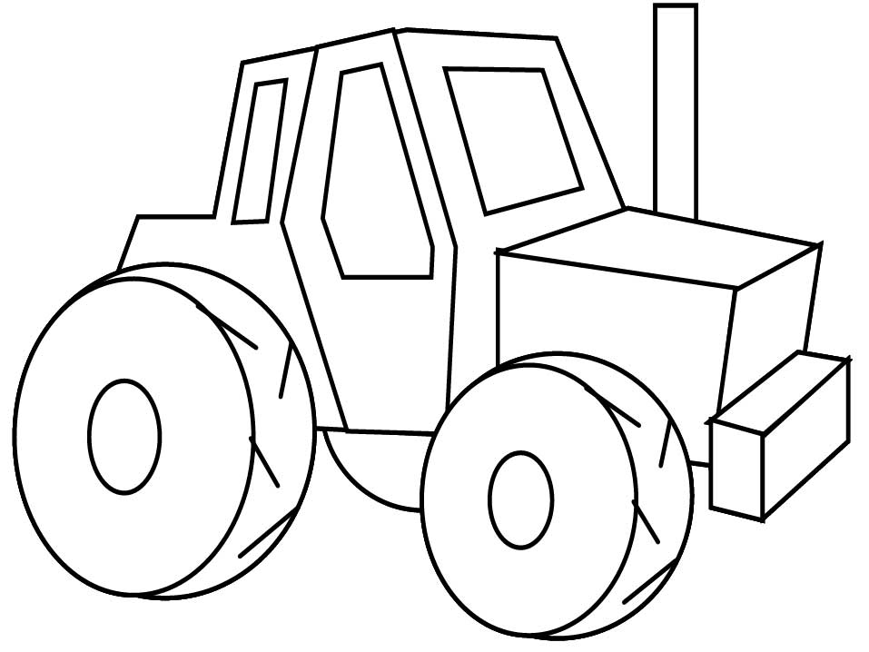 957x718 Best Tractor Coloring Pages To Print