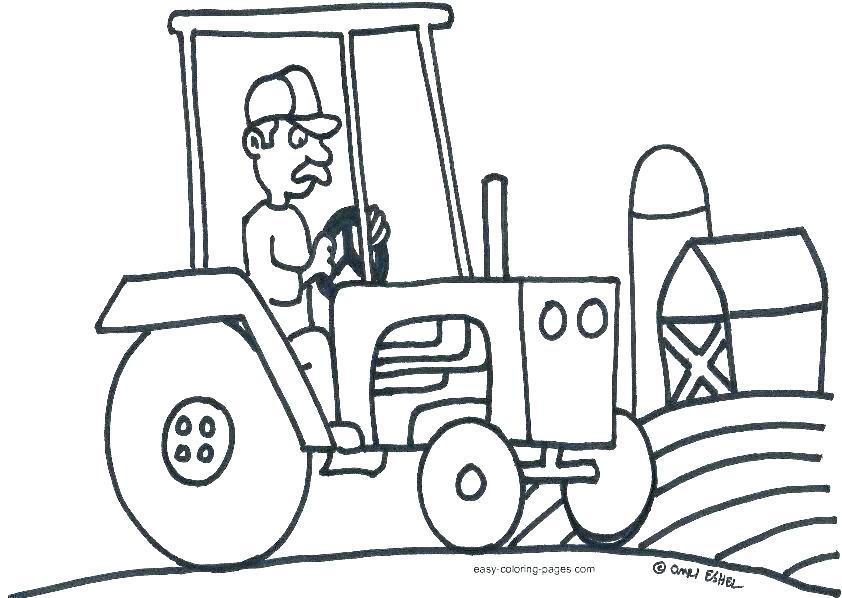 842x598 Tractor Coloring Pages Printable Tractor Coloring Pages Farm