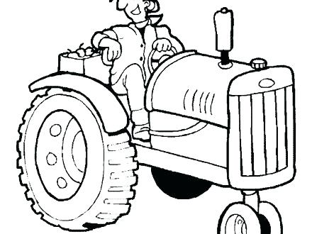 440x330 Tractor Coloring Pages Printable Tractor Coloring Pages John