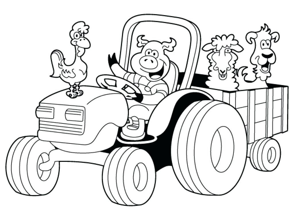 1024x768 Tractor Coloring Pages Simple Tractor Coloring Pages Best Of John