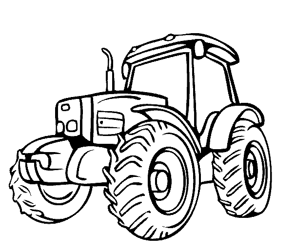 605x517 Simple Tractor Coloring Pages Gianfreda