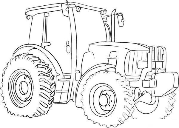 600x429 Adventurous Tractor Coloring Simple Tractor Coloring Book
