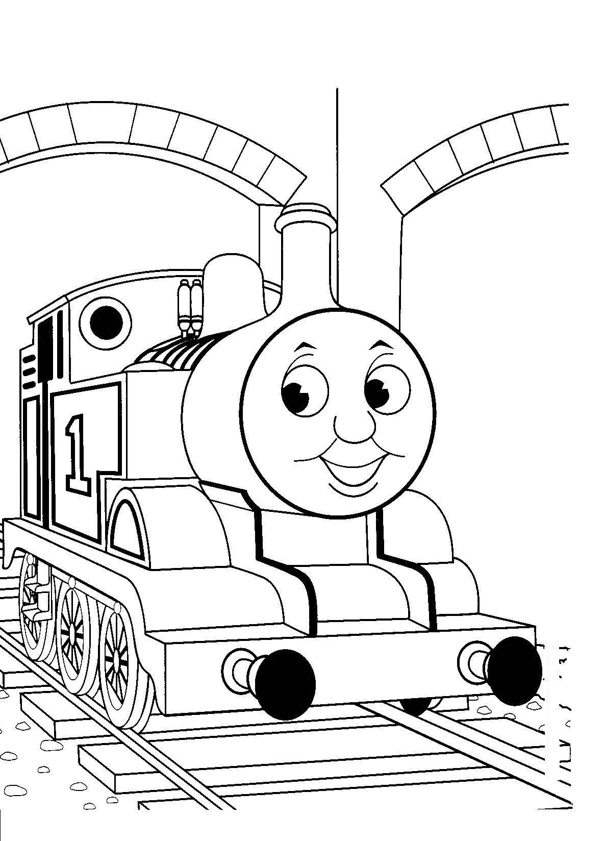 Simple Train Coloring Page at GetDrawings   Free download