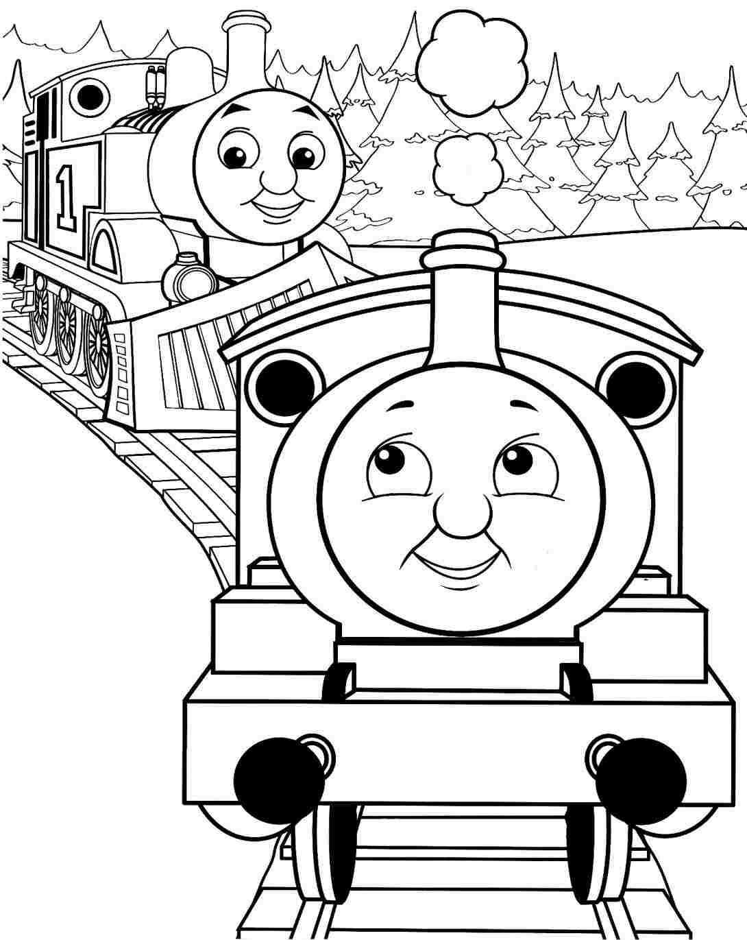Simple Train Coloring Page at GetDrawings.com | Free for personal ...