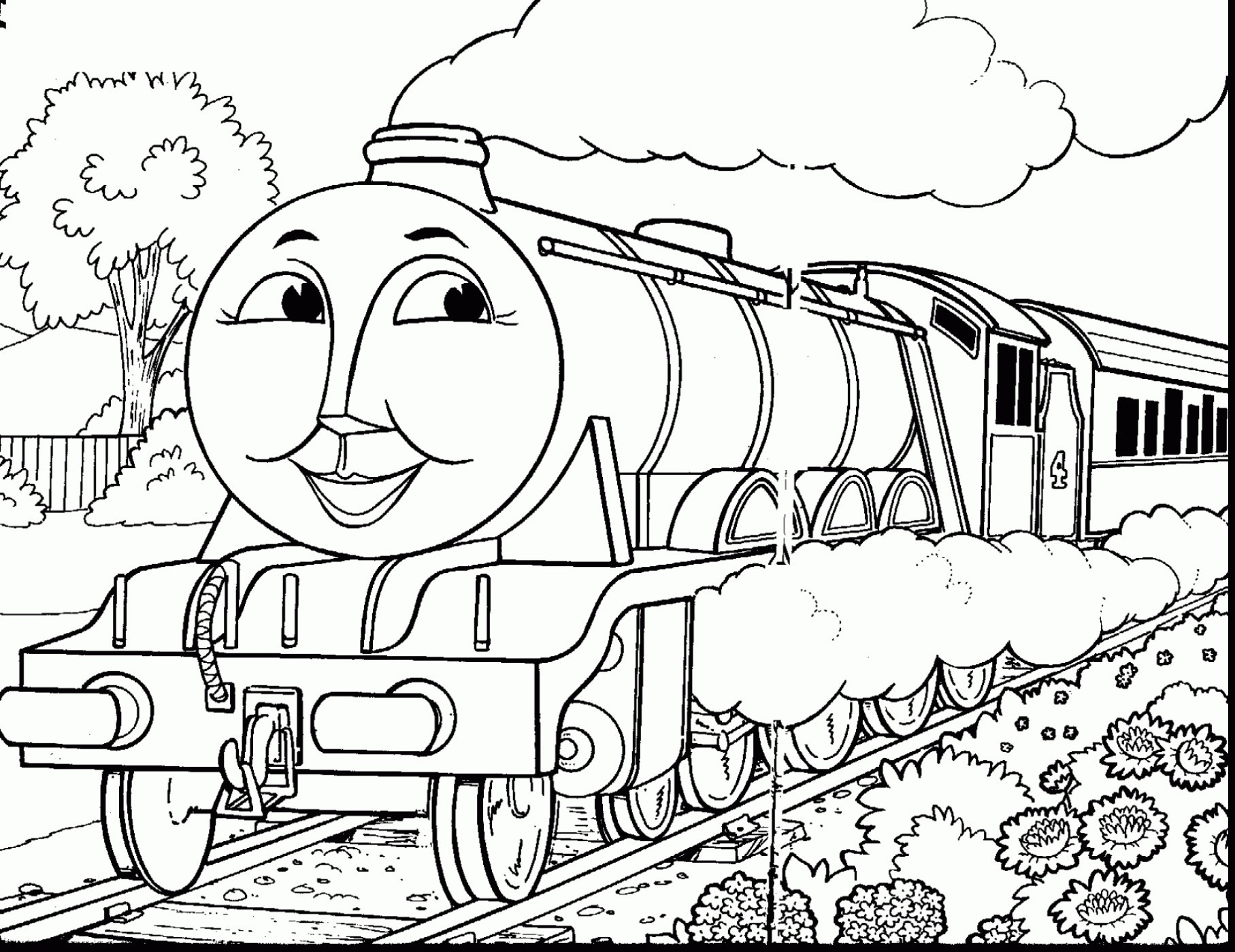 Simple Train Coloring Page at GetDrawings | Free download