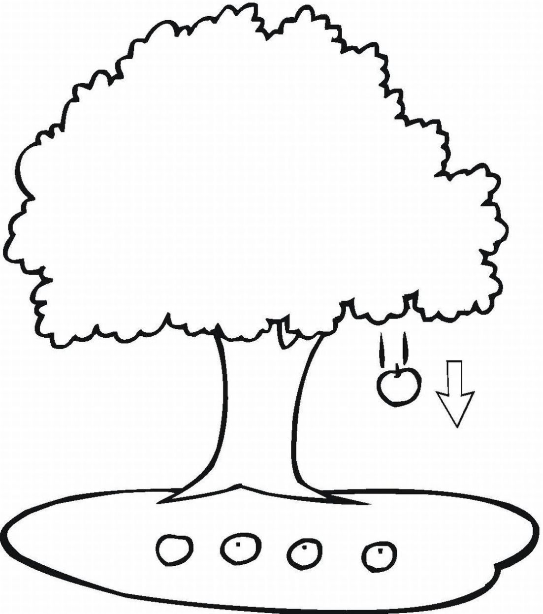 1103x1247 Appealing Coloring Page Tree Funycoloring Of Popular And Ideas