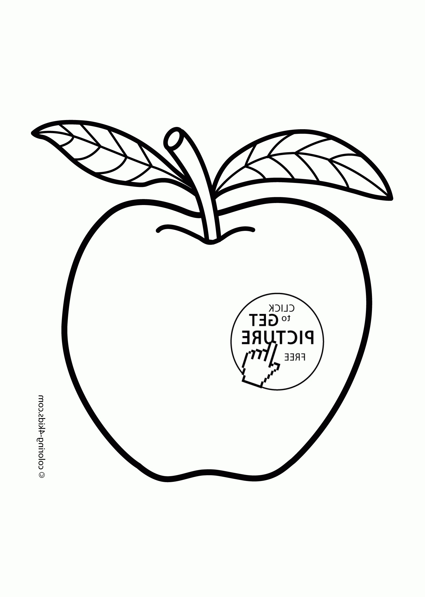 1483x2079 Apple Character Fruits Coloring Pages Simple For Kids Best