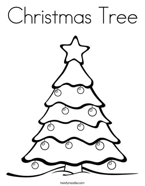 468x600 Simple Design Christmas Tree Coloring Page Christmas Tree Coloring