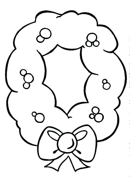 518x712 Wreath Coloring Pages Advent Wreath Coloring Page Flower Wreath