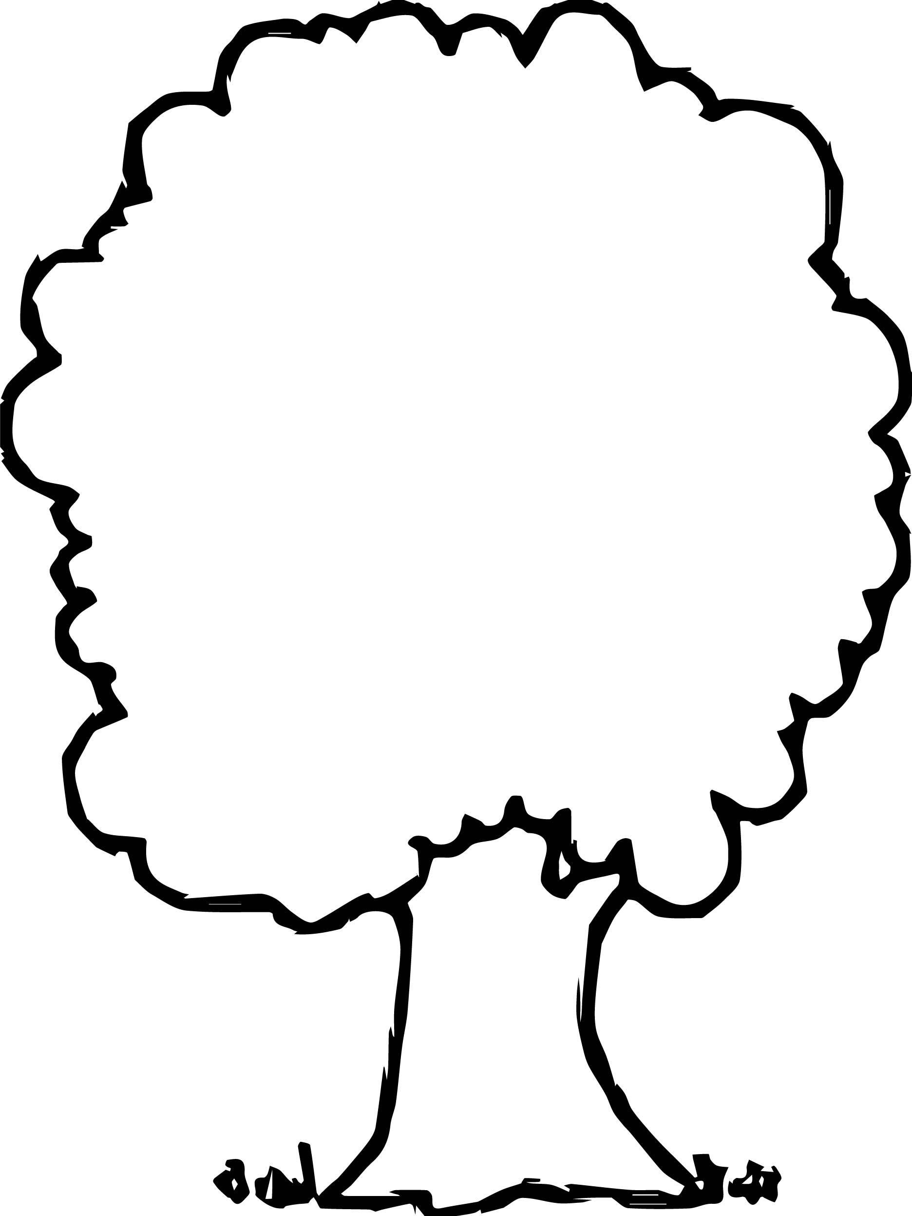 1872x2494 Awesome Collection Of Simple Tree Coloring Pages For Christmas