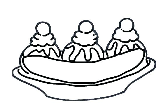 576x384 Banana Split Coloring Page Banana Coloring Pages Banana Tree