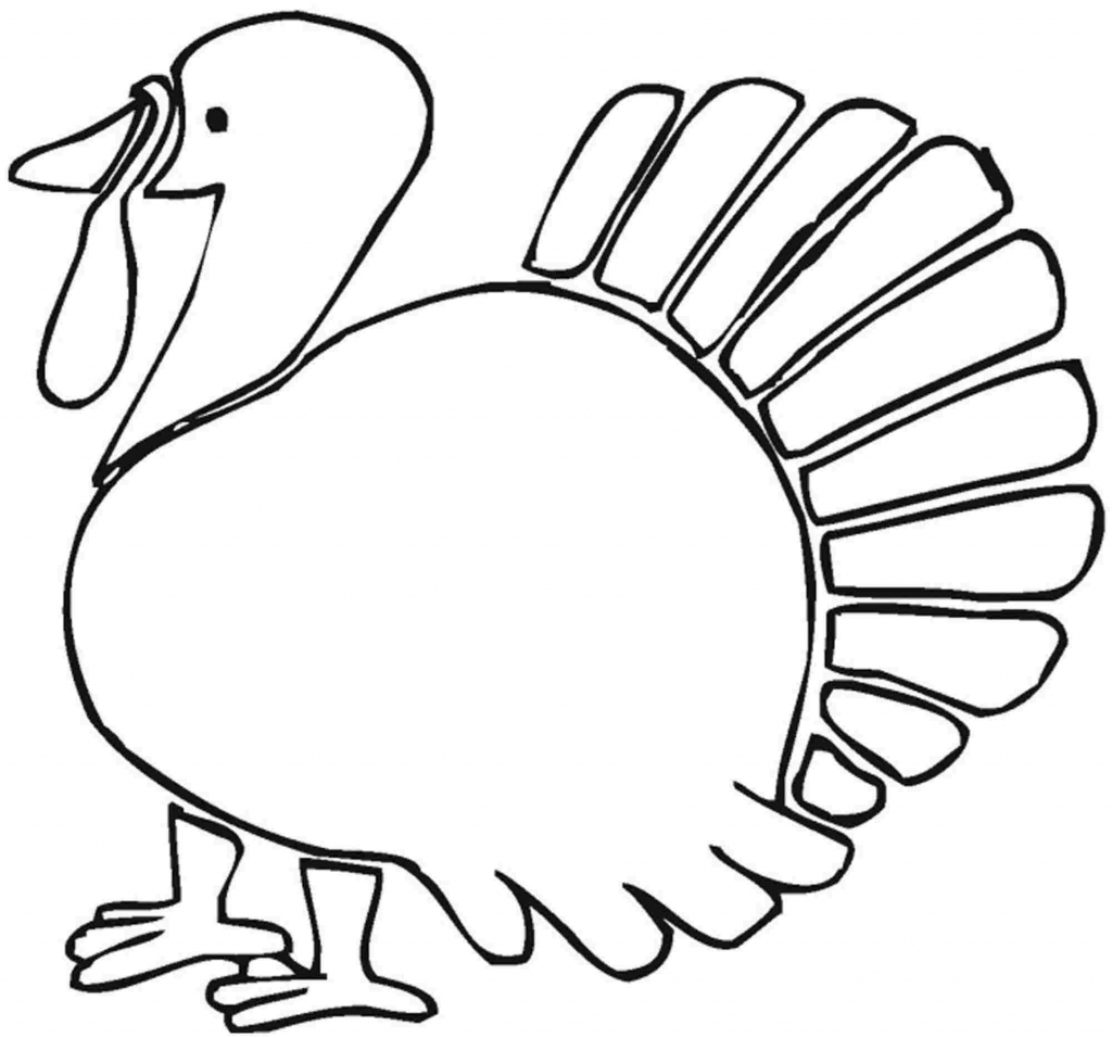 1024x956 Simple Turkey Drawing Thanksgiving Turkey Coloring Pages