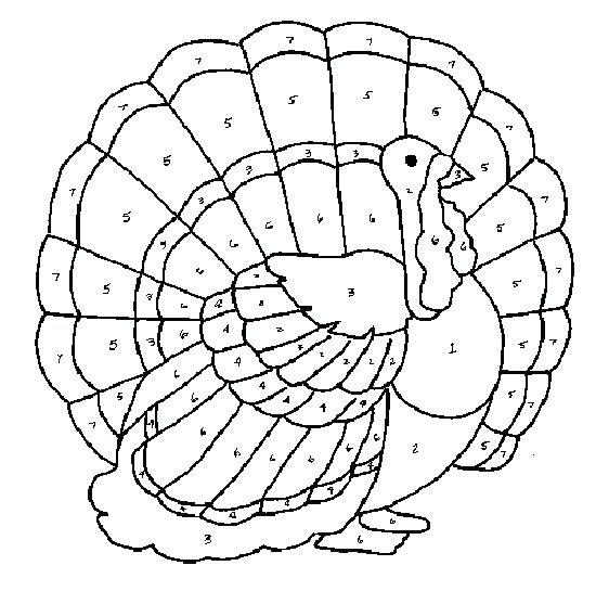 550x557 Turkey Coloring Pictures