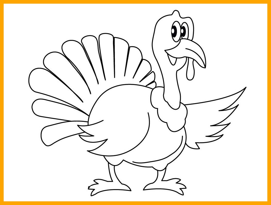 1052x796 Incredible Printable Turkey Coloring Pages For Kids Ideas