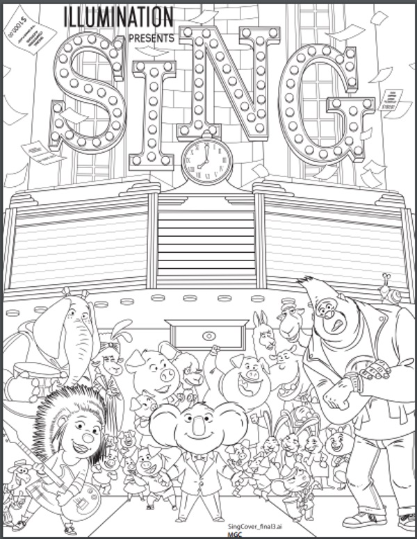 600x776 Reasons To See The Animated Film Sing Plus Pri On Sing Coloring