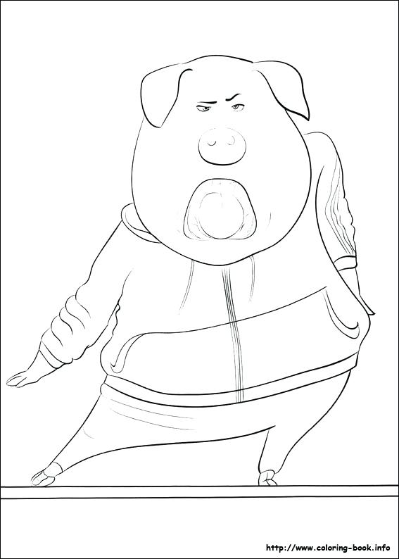 567x794 Sing Movie Coloring Pages Sing Coloring Pages Coloring Pages