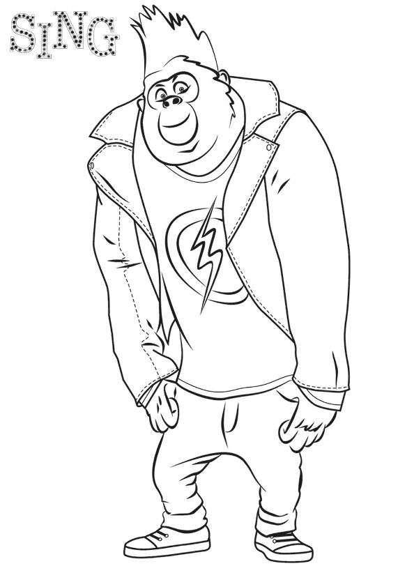 594x812 Sing The Movie Coloring Page Kids N Fun Coloring Pages Of Sing