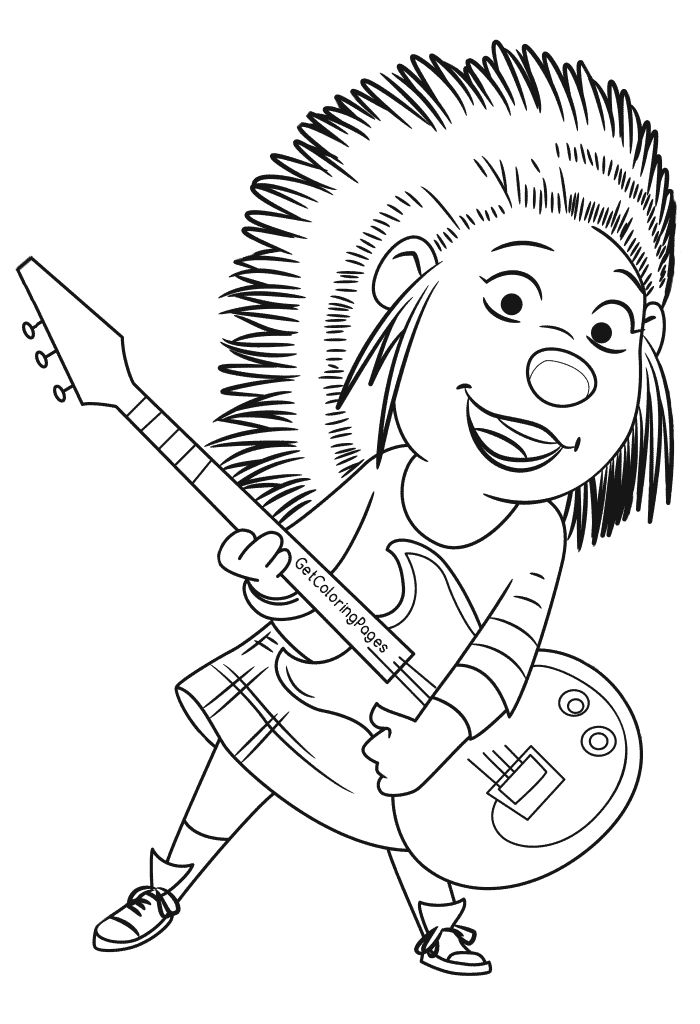 Sing The Movie Coloring Pages